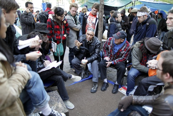 At a recent discussion, participants at Occupy Wall Street discussed socialism and capitalism.