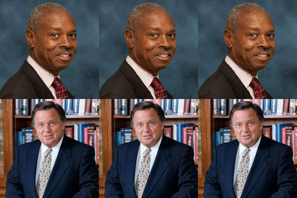 Robert T. Johnson, district attorney of the Bronx (above) and Richard A. Brown, his counterpart in Queens, are nominated on several ballot lines and face no opposition Tuesday.