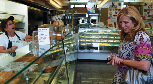 A customer chooses at Your Bakery, an institution on 86th Street.
