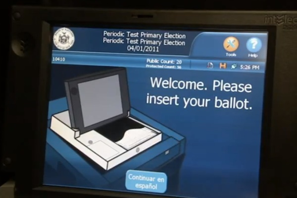The new electronic voting machines may have only increased the need for translators at polling sites, because the technology is unfamiliar.