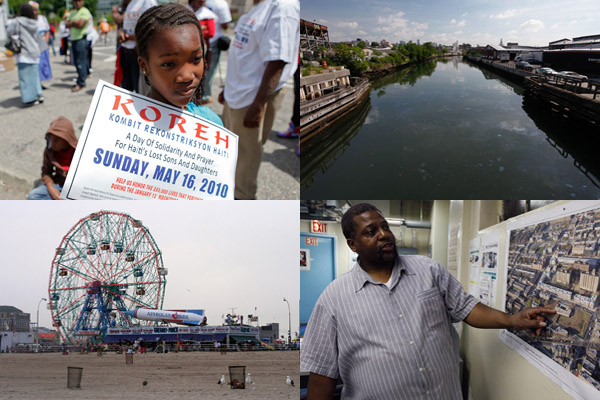 The Haitian earthquake, the Gowanus Canal, Coney Island and NYCHA projects in Brownsville all made news in the past year.