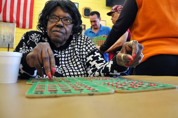 Neither a vigorous exercise class nor a congressman's visit could stop the Bingo game at the Van Dyke Senior Center on Friday, April 5.