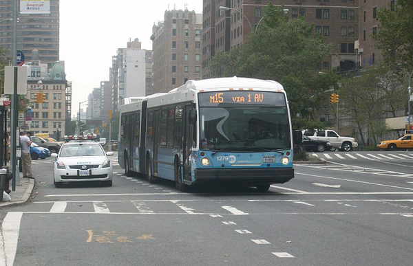 According to the city, the introduction of select bus service on the M15 line has improved travel time by 18 percent.