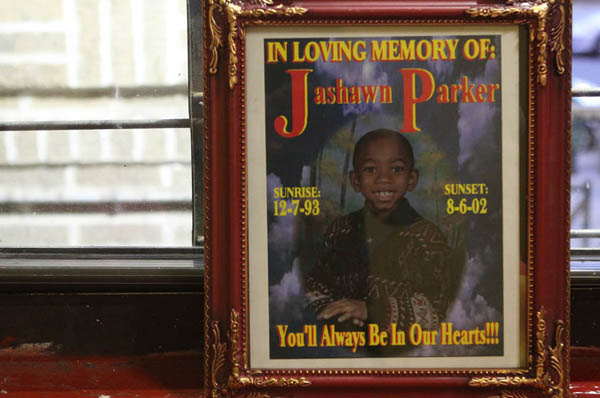 Jashawn Parker normally crawled into bed with his father during the night. But on an August night in 2002, he didn't. Firefighters found him dead in the bathroom.