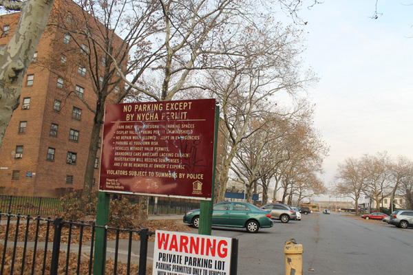 NYCHA first wanted to develop housing on this parking lot at the Cooper Park Houses site. But neighbors worried about shadows. And NYCHA tenants complained about the loss of parking spaces.