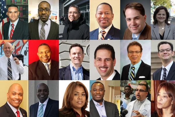 Some of the people in the running for Bronx Council seat. Top row, left to right: Carlos Sierra, Ahmadou Diallo, Cynthia Thompkins, Andy King, Ari Hoffnung, Melissa-Mark Viverito, Middle row:  Julio Pabon, Carlton Berkley, Clifford Stanton, Fernando Cabrera, James Vacca, Andrew Cohen. Bottom row:  Sean Gardiner, Darryl Johnson, Anabel Palma, Abiodun Bello, Joel Bauza, Cheryl Keeling,