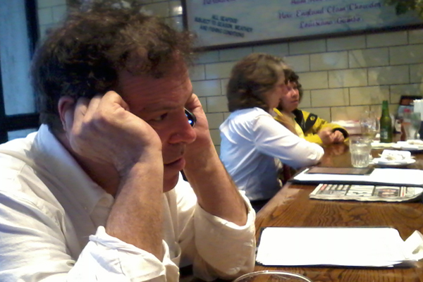 Credico at his unofficial campaign HQ, a bar on Park Avenue South. The comedian believes he can affect the race by pulling Democratic candidates to the left. He's one of at least a dozen low-profile candidates for City Hall.