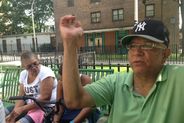 Oscar Cruz, a resident at the Webster Morrisania Houses in the South Bronx, says his apartment is filled with mold and four of the five family members who live there have respiratory problems.