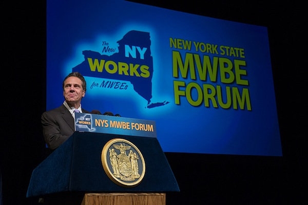 Governor Andrew Cuomo recently announced at the fourth annual MWBE forum that his administration is dramatically increasing its goal for minority-and-women-owned enterprises (MWBE) state contracting utilization to 30 percent.