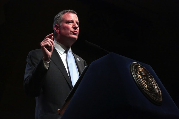 Mayor de Blasio marks his 100th day with a speech at Cooper Union.