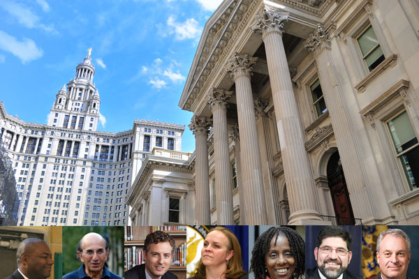 Over the past several years, DOE veterans (inset, from left) Jean-Claude Brizard, Joel Klein, John White, Cami Anderson, Marcia Lyles, Andrew Alonso and Christopher Cerf have taken on new roles after leaving New York City schools headquarters at the Tweed Courthouse (pictured). Klein has moved to the corporate world, but the rest have assumed school leadership positions across the country.