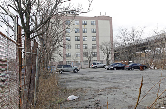 This lot in East New York will soon become a six-story, 176-unit residential and community facility–a boost for low-income families, but a potential challenge to manufacturers in the area.