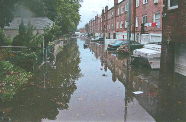 An image from a DEP report about flooding in southeast Queens in the summer of 2010.