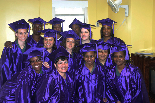 The successful completion of the class nudged these women one step further along the path to parole.