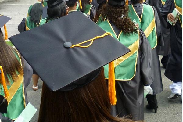 Bronx Community College graduates make their big walk in May, 2010.