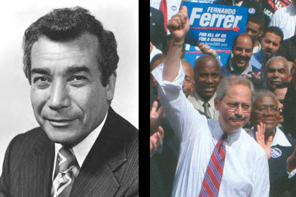 Herman Badillo, seen at left, as a congressman in the 1970s, was also a Bronx borough president and ran for mayor six times, never securing a party nomination.  Councilman, borough president and three-time mayoral hopeful Fernando