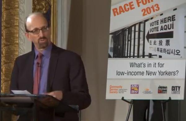 Moderator Brian Lehrer of WNYC.