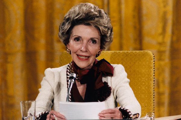 First lady Nancy Reagan introduced the phrase