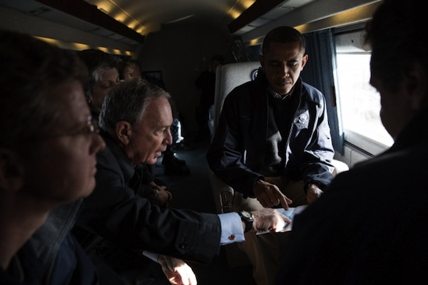 Mayor Bloomberg and Governor Cuomo toured Sandy-damaged areas of the city with President Obama in November. In the aftermath of the storm, the president increased his vote total in 11 of Brooklyn's 19 assembly districts.