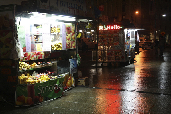 Some neighborhood vendors complain that the protest has driven away regular customers, while the newcomers tend to eat donated food. But most shopkeepers defend the Zuccotti crowd's right to demonstrate.