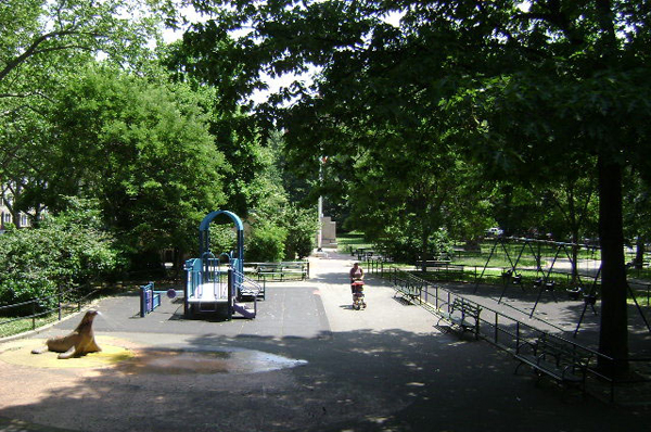 Saratoga Park figures prominently in the identity of its section of Bedford-Stuyvesant. Amid a wave of newcomers, longtime residents are quick to note that they've cared for the park for years.