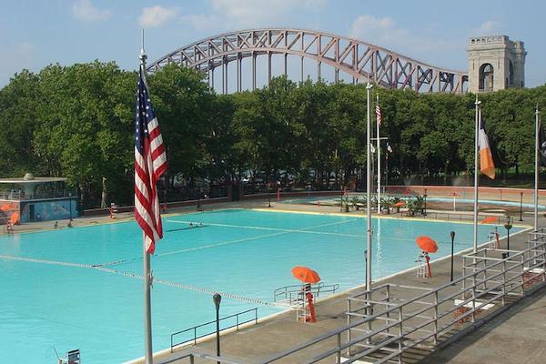 The public pool in Astoria Park.