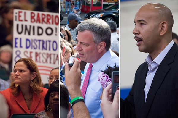 Incumbent City Councilwoman Melissa Mark-Viverito, public advocate and mayoral candidate Bill de Blasio and sitting Bronx Borough President Ruben Diaz, Jr., won the election precinct that includes Camaguey restaurant. But even their supporters were skeptical that these leaders could deliver.