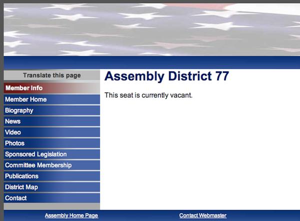 The webpage for former Assemblywoman Vanessa Gibson's seat, now vacant because she was elected to the New York City Council, makes clear what is a fact for its residents and those of one other Bronx district and nine more throughout the state: They have no representation in the lower house of the state legislature.