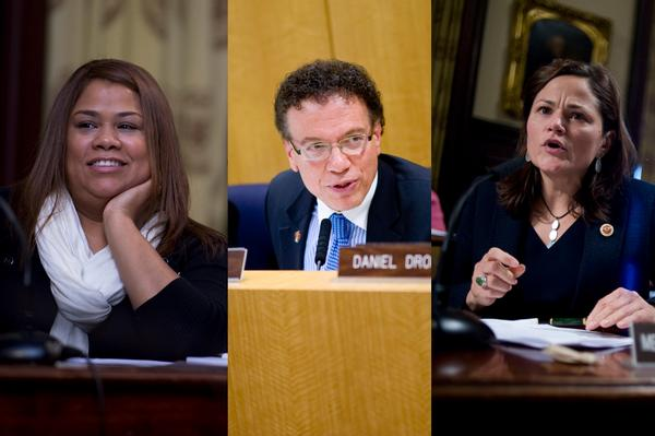 Annabel Palma, James Vacca and Melissa Mark-Viverito are three speaker candidates whose districts include the Bronx.