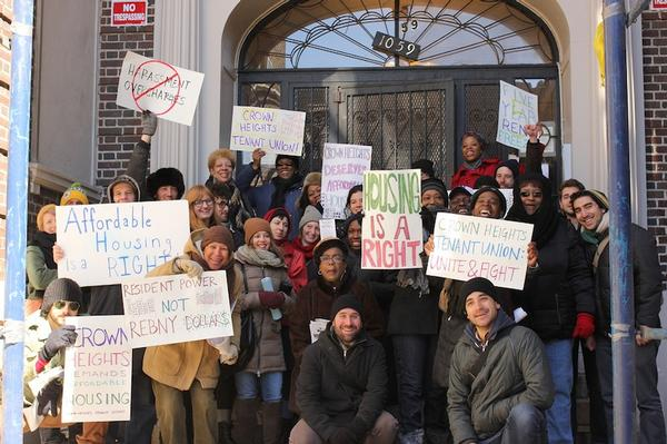 The CHTU, which is composed of tenants from a dozen buildings in Crown Heights, was founded in October of 2013 with the help of  the Pratt Area Community Council and the Urban Homesteading Assistance Board.