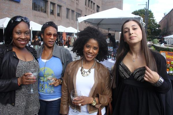 Partygoers celebrate the Toast of Brooklyn.