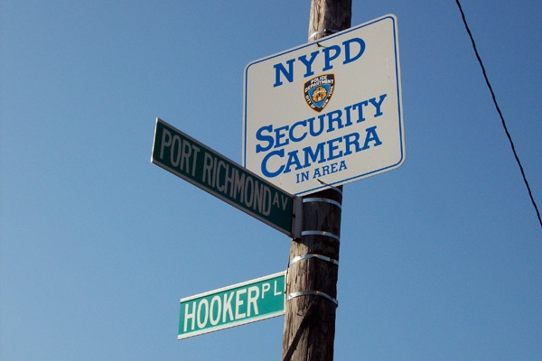 Cameras and an NYPD