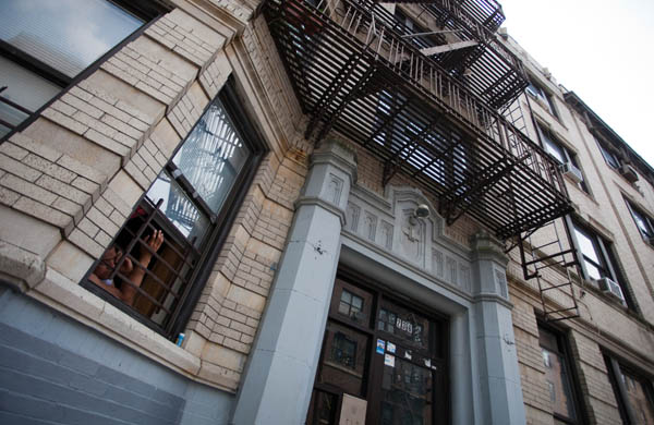 The building on 178th Street in the Bronx where six firefighters were forced to leap from a fourth-floor window. Two died. Prosecutors unsuccessfully charged tenants and owners for illegally partitioning the apartment in which the men became trapped.