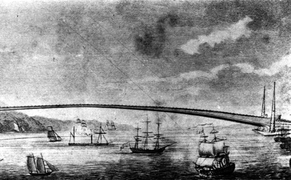 The dream of crossing the East River dates back to 1810 when Thomas Pope proposed his