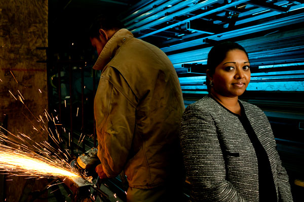 Stacy Seecharan started B & S Iron Works in the Bronx in 2003 and she said about 80 percent of her more than $1 million annual revenue comes from government contracts. She also said the programs the city runs to help certified business owners have helped her tremendously.