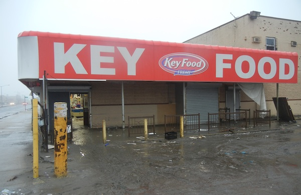 One of two closed supermarkets on the Rockaway Peninsula.