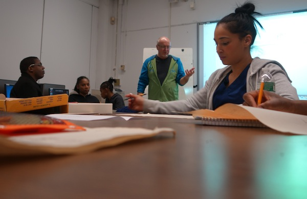 About 250 students enroll for free in remediation classes at the Adult Learning Center at Lehman College each trimester. The most advanced students are preparing to take the TASC test, which has replaced the GED.