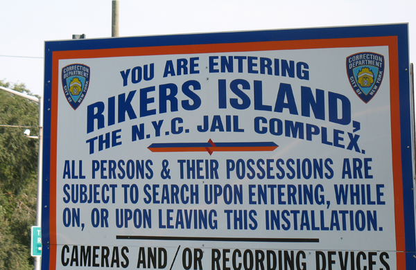The city's jail system consists of a network of facilities, including two secure hospital wards, a floating jail anchored in the Bronx and borough lockups in Brooklyn, Queens and Manhattan. The bulk of the city's prisoners—who are either awaiting trial or serving sentences of a year or less for misdemeanors—are housed in one of the 10 jails on Rikers Island.