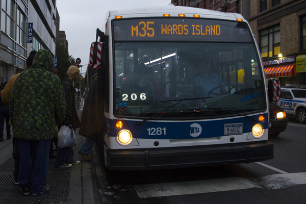 The M35 makes three Manhattan stops but most people get on and off the bus on the corner of Lexington Avenue and 125th Street. From there, it makes multiple stops along Randall's Island at the golf center, the FDNY Fire Academy and Ichan Stadium until it reaches the Charles H. Gay Center on Ward's Island.