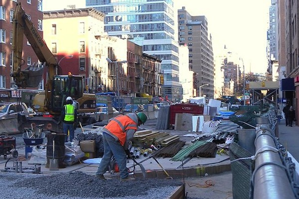 Work along the Second Avenue Subway route. The CSS survey found broad support for increased spending on infrastructure.