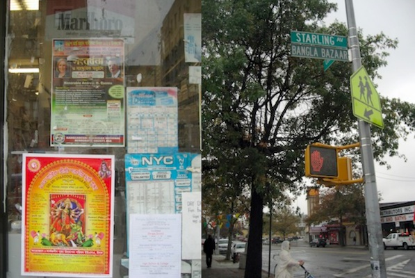 In Parkchester, where a major street was renamed in 2006 to reflect the area's ethnic makeup, political signs appear in Bengali but the pre-election conversation revolved around the economy.
