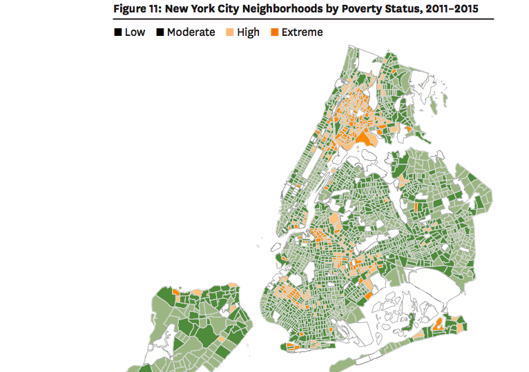 Map Of New York New York Neighborhoods.Report Rents Rose But So Did Poverty